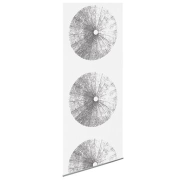 Tkanina na panel japoński DMUCHAWCE szara 60 x 275 cm