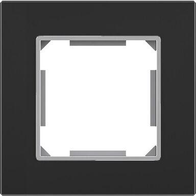 Ramka pojedyncza EDG1001GB czarne-szkło LEXMAN