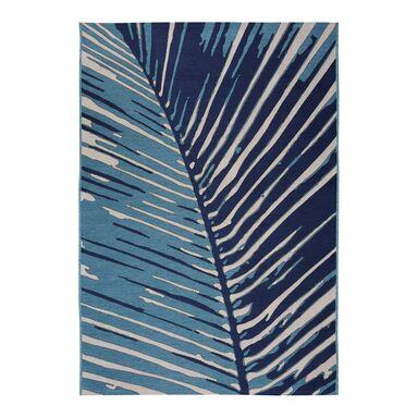 Dywan zewnętrzny w liście Borneo niebieski 60 x 90 cm