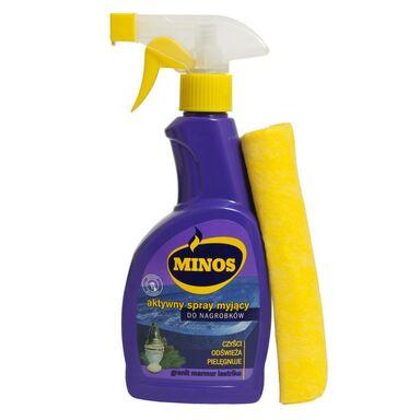 Spray myjący do nagrobków + ścierka 400 ml MINOS