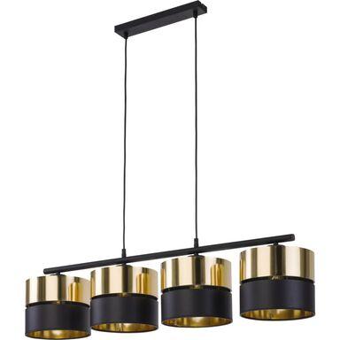 Lampa wisząca Hilton czarno-złota 4 x E27 TK Lighting