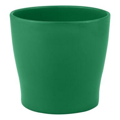 Doniczka ceramiczna 22 cm zielona TOSKANIA CERAMIK