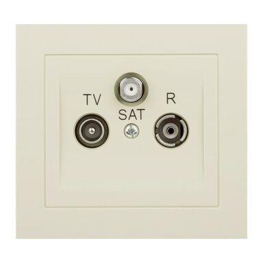 Gniazdo RTV SAT KOŃCOWE KIER  Beżowy  OSPEL