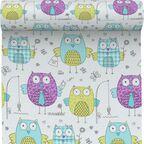 Tapeta dla dzieci OWLS multikolor papierowa