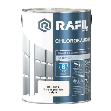 Emalia do metalu i betonu CHLOROKAUCZUK 5 l Biały sygnałowy RAL 9003 RAFIL