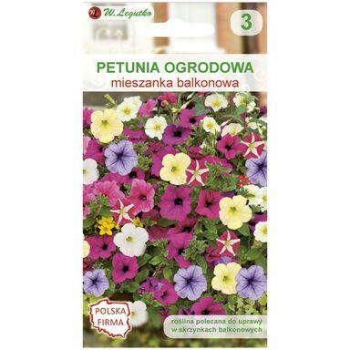 Nasiona kwiatów MIESZANKA BALKONOWA Petunia ogrodowa W. LEGUTKO