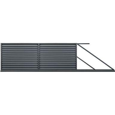 Brama przesuwna KRETA 400 x 150 cm prawa POLBRAM antracyt