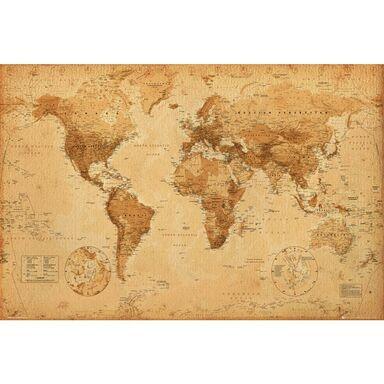 Plakat World Map Antique Style 915 X 61 Cm