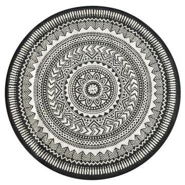 Dywan zewnętrzny Ethnic szary okrągły śr. 120 cm