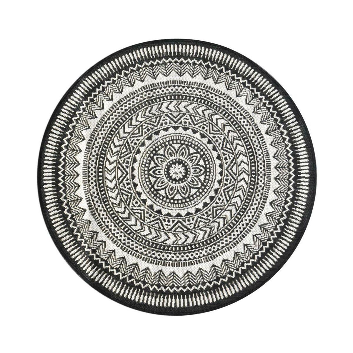 Dywan Zewnetrzny Ethnic Szary Okragly Sr 120 Cm Dywany Wewnetrzne W Atrakcyjnej Cenie W Sklepach Leroy Merlin