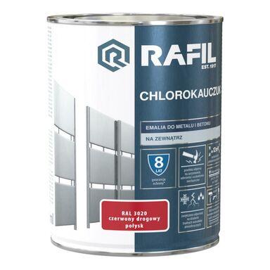 Emalia do metalu i betonu CHLOROKAUCZUK 0.9 l Czerwony drogowy RAL 3020 RAFIL