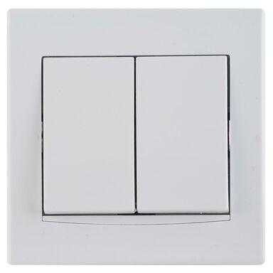 Włącznik podwójny ANYA  biały  SCHNEIDER