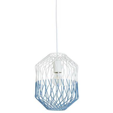 Lampa wisząca Meredith biało-niebieska E27 Inspire