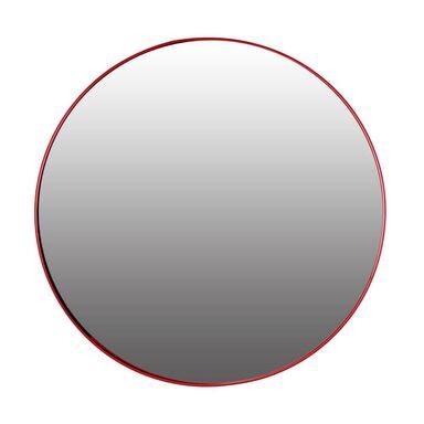 Lustro okrągłe RONDO czerwone śr. 50 cm