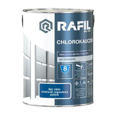 Emalia do metalu i betonu CHLOROKAUCZUK 5 l Niebieski sygnałowy RAL 5005 RAFIL