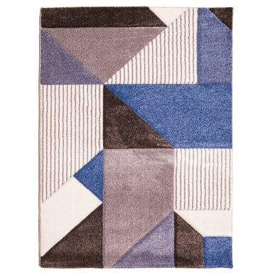 Dywan VEGAS brązowo-niebieski 80 x 140 cm