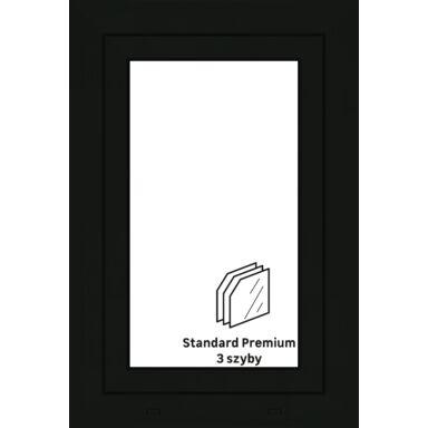 Okno PCV 3-szybowe O4 Antracyt 565 x 835 mm