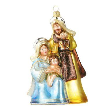 Bombka szklana 12 cm święta rodzina ręcznie malowana PREMIUM