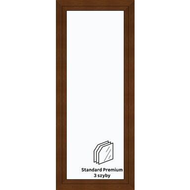 Okno PCV 3-szybowe balkonowe OB4 Złoty dąb 865 x 2095 mm