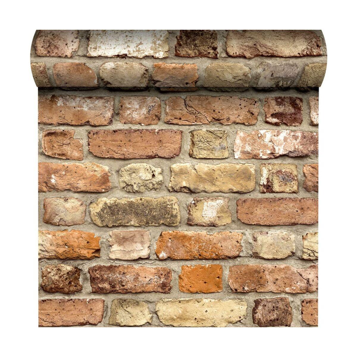 Tapeta Rustic Brick 3d Czerwona Imitacja Cegly Winylowa Na Flizelinie Tapety W Atrakcyjnej Cenie W Sklepach Leroy Merlin