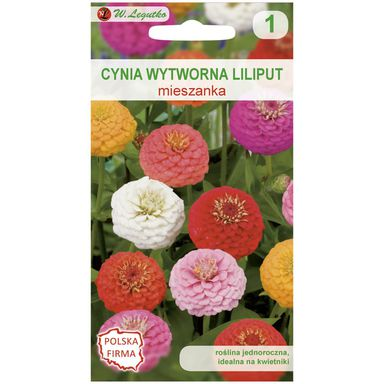 Nasiona kwiatów MIESZANKA Cynia wytworna Liliput W. LEGUTKO