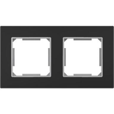 Ramka podwójna EDG1002GB czarne-szkło LEXMAN