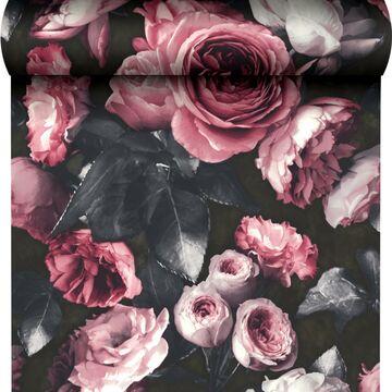 Tapeta w kwiaty Newfiori różowa winylowa na flizelinie