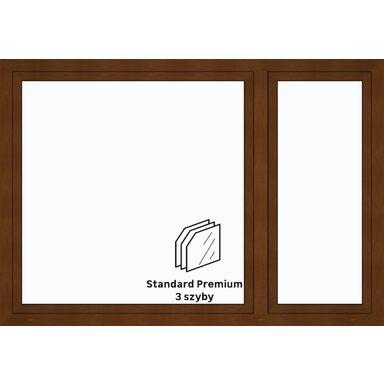 Okno PCV 3-szybowe O39 Złoty dąb 2065 x 1435 mm