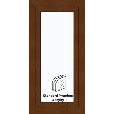 Okno PCV 3-szybowe O11 Złoty dąb 565 x 1135 mm