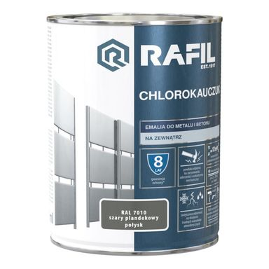 Emalia do metalu i betonu CHLOROKAUCZUK 0.9 l Szary plandekowy RAL 7010 RAFIL
