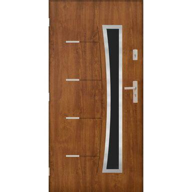 Drzwi zewnętrzne stalowe Lyon 2 Złoty Dąb 90 lewe Pantor
