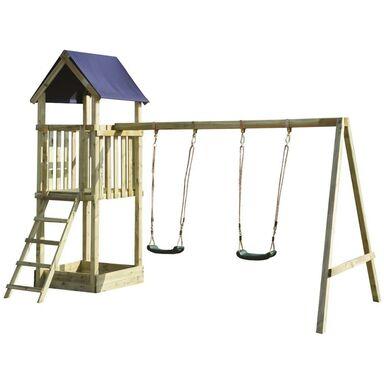 Ogrodowy plac zabaw dla dzieci ZUZIA drewniany SOBEX