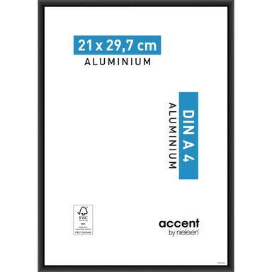 Ramka na zdjęcia ACCENT 21 x 29.7 cm czarna aluminiowa