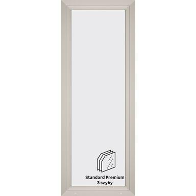 Okno PCV 3-szybowe balkonowe OB7 Białe 865 x 2295 mm