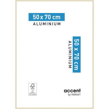 Ramka na zdjęcia ACCENT 50 x 70 cm złota mat aluminiowa