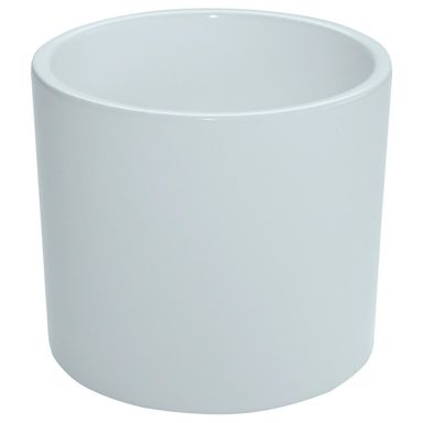 Osłonka ceramiczna 32 cm biała WALEC