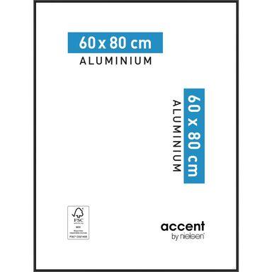 Ramka na zdjęcia ACCENT 60 x 80 cm czarna aluminiowa