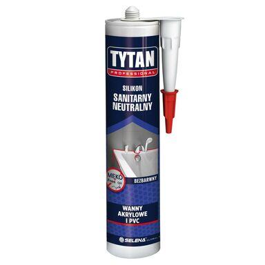 Silikon SANITARNY NEUTRALNY 280 ml Bezbarwny Wanny akrylowe i PVC TYTAN