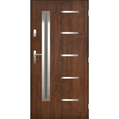 Drzwi zewnętrzne stalowe Nike orzech 90 prawe Pantor