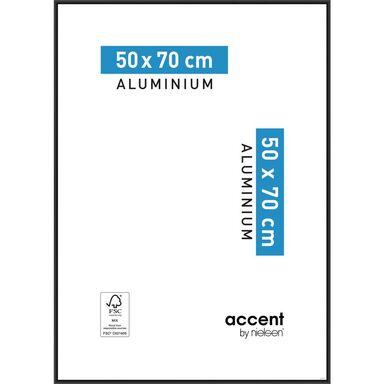 Ramka na zdjęcia ACCENT 50 x 70 cm czarna aluminiowa