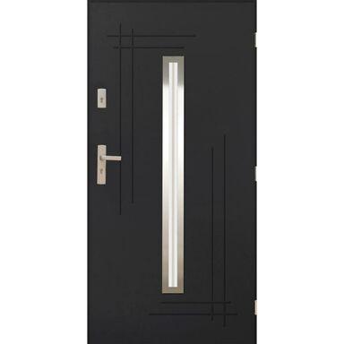 Drzwi zewnętrzne stalowe Ozyrys 2 Antracyt 90 prawe Pantor