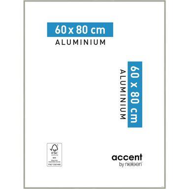 Ramka na zdjęcia Accent 60 x 80 cm nikiel mat aluminiowa