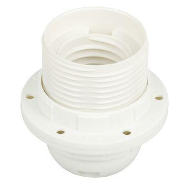 Oprawka Z PIERŚCIENIEM E27 biała ELEKTRO-PLAST