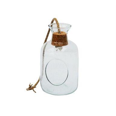 Słój dekoracyjny 14 x 24.5 cm szklany wiszący z korkiem