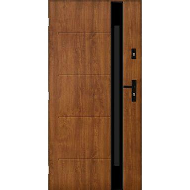 Drzwi stalowe zewnętrzne Saint Tropez 2 Złoty Dąb 90 lewe Pantor