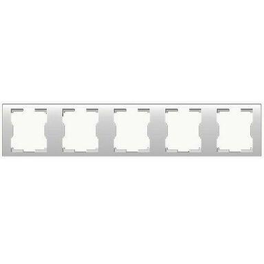Ramka pięcioktrotna pozioma QUATTRO  biały  ELEKTRO-PLAST