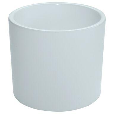 Osłonka ceramiczna 13 cm biała WALEC CERAMIK