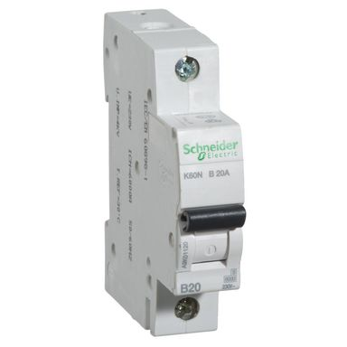 Wyłącznik nadprądowy K60N - B20 - 1 SCHNEIDER ELECTRIC