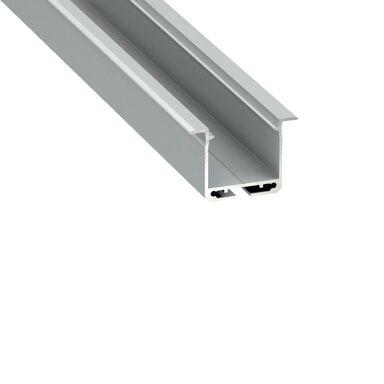 Profil aluminiowy do taśm LED TYP K dł. 2 m srebrny + zaślepki EKO-LIGHT