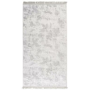 Dywan Prestige jasnoszary 80 x 150 cm z frędzlami